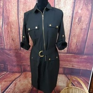 Sharagano Black 3/4 Sleeve Dress
